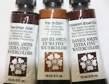 3 DANIEL SMITH Extra Fine Watercolor Paint:15ml-3 BROWNISH SHADES-Ser1