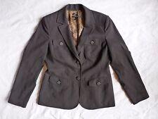Style & Co. Black Pinstripe Women's Coat Jacket Blazer 8 Stretch