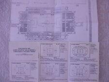 GUIDA TOPOGRAFICA STADI CALCIO CAMPIONATO SERIE A 1984/85 E MAPPA STADIO MARASSI