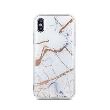 "Apple iPhone 6 4,7"" Weiß Marmoriert TPU Stein Muster Hülle Case Tasche Bling"