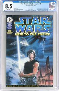 S243. STAR WARS: HEIR TO THE EMPIRE #1 CGC 8.5 VF+ (1995) 1st App. of MARA JADE