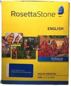 Rosetta Stone English 1-5 Complete Course Guaranteed Unused Serial & Headphones