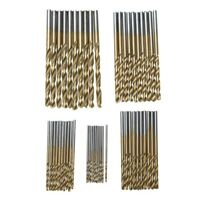 50Pc Titanium Coated HSS High Speed Steel Drill Bit Set Tool 1/1.5/2/2.5/3mm