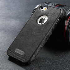 For iPhone 5 5s SE Luxury Genuine PU Leather Soft TPU Slim Shockproof Case Cover