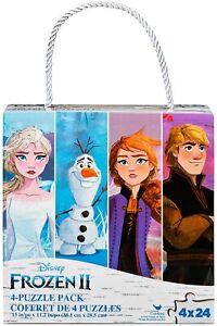 Disney's Frozen 2  Box of 4 - 24 Piece Puzzles, a total of 96 Pieces, Elsa, Anna