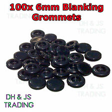 100 x 6mm Blanking Grommets Electrical Closed Wiring Rubber Blind Bungs Grommet
