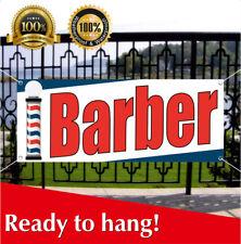 Barber Banner Vinyl Mesh Banner Sign Beauty Salon Hair Shave Cut Haircuts Shop