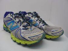 New Balance Women's 870v3 Athletic Running Shoe White/Blue/Lime Size 9B