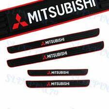 Black 4pcs Rubber Car Door Scuff Sill Cover Panel Step Protector For Mitsubishi Fits 1999 Mitsubishi Mirage