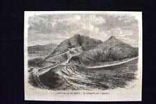 Imboscamento dei monti - Il torrente del Labouret Incisione del 1869