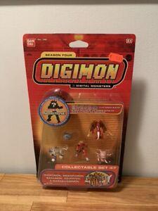 Digimon Collectable Mini Figure Set 47 Season four Bandai New Sealed