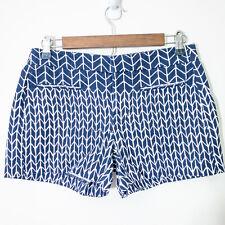 "Gap Womens Shorts Size 00 Blue & White Printed 100% Cotton 3.5"" Inseam"