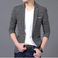 Mens Blazer Jacket Formal Casual Fashion Smart Slim Fit Blazers Coat XS/S/M/L/XL