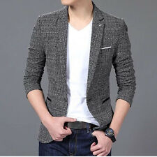 Men Casual Slim Fit One Button Suits Blazer Business Coats Jacket Formal Tops US