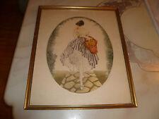 """Vintage After Louis Icart """"Panier de Pommes"""" Lithograph print"""