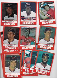1980 PORTLAND BEAVERS - 27 TCMA SET - Tony Pena, Dick Pole, Law, Perez Pirates