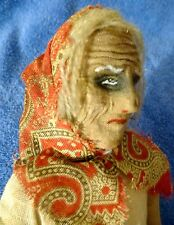Vintage RUSSIAN Cloth Doll Stockinette Face Old Poor Peasant Woman