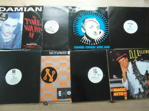 """A COLLECTION OF HOUSE,TRANCE,TEKNO,GARAGE 12"""" SINGLES x 8-2000's VG-EX-1"""