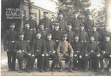 S/W foto ak ~ 4. Abt 1. BTL s3 reclutas depot II Wesel ~ ungelaufen 1915