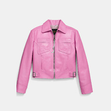 Coach women leather jacket, $1595, size 2