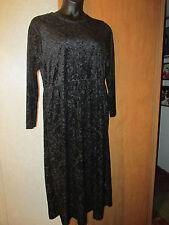 Worthington Vintage Black long sleeve calf length dress size 16 NWT