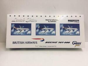 Gemini Jets 1:400 British Airways BOEING 727-200 Set Of 3 GJBAWSET3