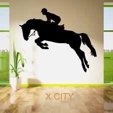 Wall Sticker Decal Vinyl Mane Horse Jockey Racehorse Sports Jump Interior Design