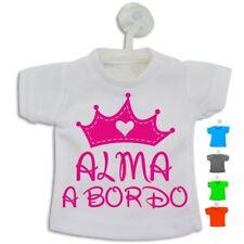Bebé a Bordo Nombre Niña Personalizado Mini Camiseta 11x13,5 cm con Ventosa
