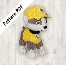 Rubble Pup Paw Patrol Pattern, Puppy Crochet Pattern PDF (Read Description)