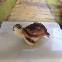 Vintage Miniature CERAMIC TURTLE Dollhouse Pet Animal