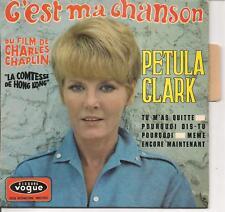 EP 4 TITRES--PETULA CLARK--C'EST MA CHANSON / TU M'AS QUITTE (LANGUETTE)