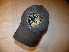 San Jose Sharks Gray Low Profile NHL Hat 100% Cotton Adult Adjustable