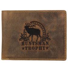 Greenburry Vintage Huntsman Trophy RFID Leder Geldbörse Portemonnaie 1705 Hirsch