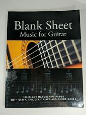 Blank Sheet Music for Guitar : 100 Blank Manuscript Pages with Staff, Tab, Lyri…