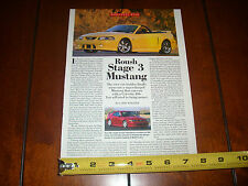 2001 ROUSH STAGE 3 MUSTANG ***ORIGINAL ARTICLE***