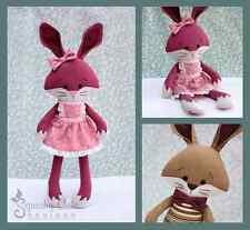 Bunny Doll Sewing Pattern -  Stuffed Rag Doll Rabbit Plushie Pattern & Tutorial