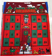 Advent Calendar Toy Shop Fabric Panel Christmas Rose and Hubble Vintage