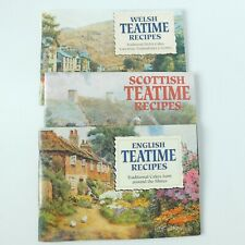 LOT of 3, Scottish, Welsh & English Teatime Recipe Paperback Books EUC
