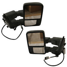 Manual Side Mirror For 08-15 F250 F350 W/ Amber Turn Signal Towing Mirrors Pair