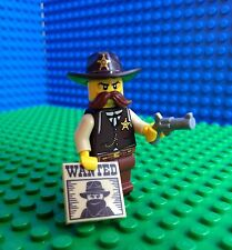 Lego SHERIFF Minifigures Wanted Poster Gun Revolver Western Hat 71008 Series 13