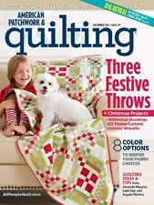 AMERICAN PATCHWORK and QUILTING Magazine Dec 2016 - 3 Throws + Christmas Pattern