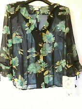 Miss Dorby Sheer Floral Blouse