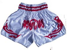 Muay Thai Short satin blanc soie XL
