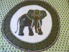 Elephant Tapestry/Scarf/Wall Hanging, green and white with sequins