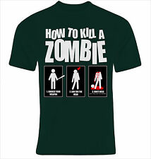 CAMISETA HOW to KILL a ZOMBIE  TALLA S M L XL XXL XXXL SIZE T-SHIRT