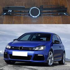 For Volkswagen Golf 6 R20 2009-2013  Black Front Hood Grille Vent Trim R Mark