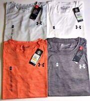 NEW Under Armour Women's Short Sleeve Locker Tee CREWNECK T shirt HEATGEAR UA