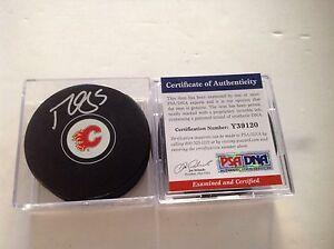 Calgary Flames Mark Giordano Signed Hockey Puck PSA DNA COA Autographed b