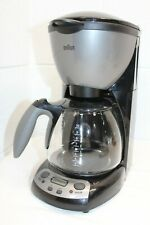 Vintage Braun Coffee Maker 3105 10 Cup Black & Gray DESCALED! Programmable
