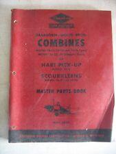 1950 Original Ford Dearborn Combines Hart Pick-Up Scourkleens Master Parts Book